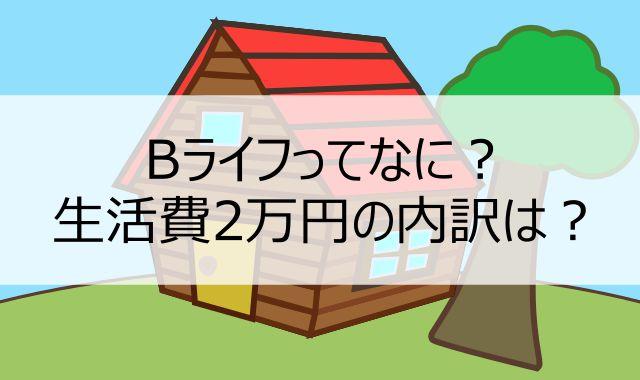 記事[【生活費2万円のローコストライフ】Bライフとは?基本的考え方、誰が向いているのかを説明します]へ