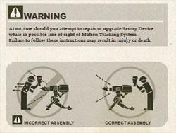 セントリーガンの取り扱い説明書2