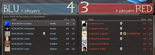 決勝 勝者側 Round 1 - KOS.NGTK [4-3] G.Speed (Well)