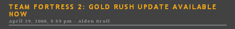 Team Fortress 2: Gold Rush Update Available Now