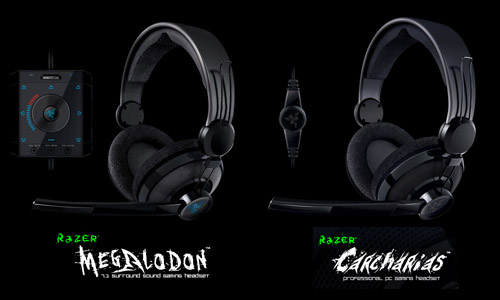 『Razer Megalodon 7.1 Surround Sound Gaming Headset』 & 『Razer Carcharias』