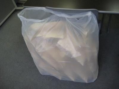 マウスパッドinゴミ袋