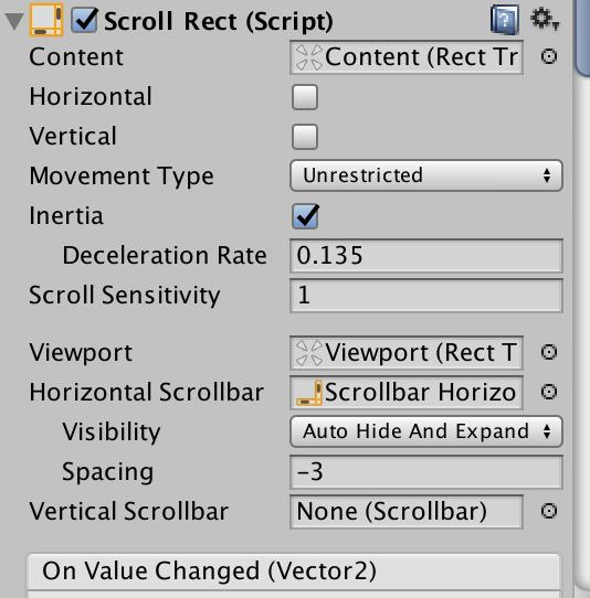 Unity ScrollViewをフリックで操作する - 196Log
