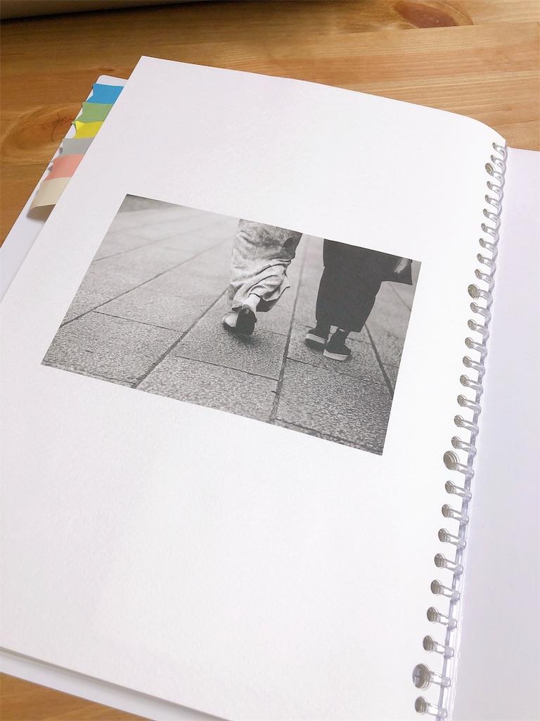 ブックレターの裏表紙の写真