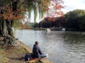[石神井公園][カレー][おでん][ジュース]到着と同時に釣りおやじと遭遇