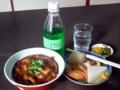 [石神井公園][カレー][おでん][ジュース]カレー丼とおでんと、あとチェリオ