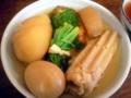 [麻布十番][おでん]小松菜のシャキシャキ感、紫蘇の持つサッパリさが重くない後味を演出