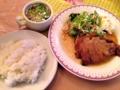 [麻布十番][洋食][カフェ・喫茶店]ガッツリ2枚の豚ロースしょうが焼き