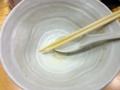 [銀座][ラーメン]丼を持ち上げ一気にズズズとかっ食らうのが爽快