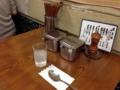 [蒲田][蓮沼][ラーメン][支那そば][カレー]ここだけ見るとカレーを待ってる人のテーブルみたいです