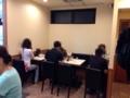 [新橋][ラーメン][つけ麺]2席のテーブル4卓で最大8名までOKなテーブル席