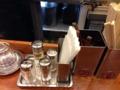 [有楽町][ラーメン][茶飯]調味料類もいたってシンプル