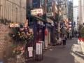 [新橋][ラーメン]祝い花がなくなったら一層近寄りがたくなりますね
