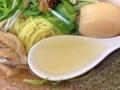 [神保町][ラーメン]歴代の塩ラーメンの中でもかなり澄んだ感じのスープ