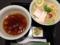澄んだスープと細麺による上品なビジュアルで第1位を獲得したつけ麺