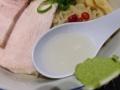 [赤坂][赤坂見附][溜池山王][永田町][ラーメン][つけ麺]麺自体は冷たい昆布出汁に浸かってます