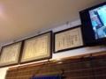[下北沢][甘味処][かき氷]壁には表彰状が飾られています