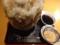 負けず劣らずの高さ、ほうじ茶かき氷普通サイズ650円
