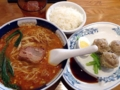 [溜池山王][国会議事堂前][赤坂][ラーメン]担々麺に焼売が3個ついた支那麺はしご 赤坂店の「だんだん焼売セット
