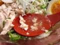[湯島][ラーメン]粘度はあるものの決してくどくない塩味の冷製スープ