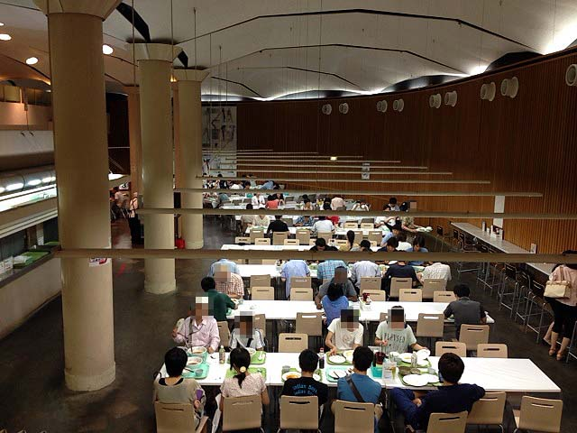1976年(昭和51年)完成!420席を有する東大地下の大食堂