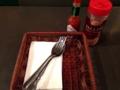 [吉祥寺][洋食][パスタ][カフェ・喫茶店][居酒屋][ドラマ][孤独のグルメ]タバスコと粉チーズ、フォークとスプーンが後から