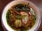 香味野菜をふんだんに使用した洋風テイストのラーメン680円