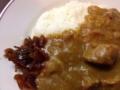 [日本橋][ラーメン][支那そば][カレー][洋食]カレーライスに定番の漬け物・福神漬もナイスな色合い