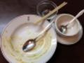 [日本橋][ラーメン][支那そば][カレー][洋食]見事完食!(※汚いのでモザイク処理済み)