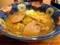 スープは若干少なめで麺が盛り上がって見えます