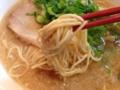 [日本橋][ラーメン]ストレート細麺は「かため・やわらかめ」以外に茹でる秒数での指定が