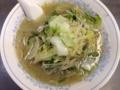 [桜木町][日ノ出町][ラーメン][餃子]野菜タップリ、ラードとニンニクがしっかり効いたアツアツのタンメン