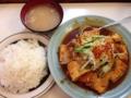 [大山][洋食][定食・食堂][漫画][孤独のグルメ]肉と豆腐のタレ焼こと、大山「洋庖丁」のジャンボ焼ランチ720円
