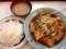 肉と豆腐のタレ焼こと、大山「洋庖丁」のジャンボ焼ランチ720円