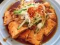 [大山][洋食][定食・食堂][漫画][孤独のグルメ]要するに肉豆腐なんですが、豚肉と豆腐を甘辛いタレで焼いてます