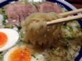 [東京][大手町][京橋][ラーメン]平打ちタイプの中太縮れ麺