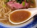 [東十条][ラーメン]特に煮干しテイストが強く感じられる豚骨醤油スープ