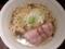 「自家製麺 伊藤 銀座店」の肉そば大盛スープ&ネギ増し