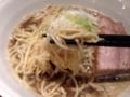 [銀座][東銀座][ラーメン]細麺なのにパッツンパッツンの食感は啜るというよりは噛む
