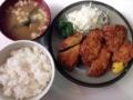 [千駄木][谷中][日暮里][洋食][パスタ][焼きそば][定食・食堂]3種類の揚げたてが嬉しい「キッチン マロ」のミックスフライ定食