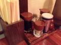 [日暮里][ラーメン]胡椒、醤油、酢など、定番調味料含むカスターセット