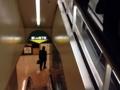 [新橋][牛かつ][和食][定食・食堂]入館しエスカレーターで地下1階に向かいます