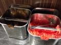 [上野][御徒町][ラーメン]そして辛子高菜に紅しょうがと定番のラインナップ
