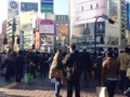 [渋谷][焼きそば]渋谷駅前のスクランブルは相変わらずこんな混みっぷり
