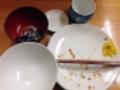 [上野][御徒町][とんかつ][和食][定食・食堂]当然完食じゃー。(※例によって汚いのでモザイク処理済み)