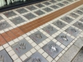 [浅草][田原町][ラーメン]ふらり立ち寄った浅草公会堂「スターの広場」に飾られたスタァの手形