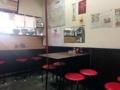 [豪徳寺][山下][ラーメン][餃子]カウンター3席、4名掛けテーブル4卓の計19席、意外と広い
