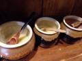 [南麻布][麻布十番][白金高輪][ラーメン]調味料類はおろしニンニク、おろしショウガに豆板醤