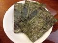 [神泉][渋谷][ラーメン]別皿で正解、忘れずに頼みたい一番摘みの焼海苔