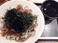 [銀座][有楽町][日比谷][蕎麦]「俺のそば GINZA5」の俺の肉そば500円(税込)
